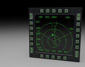3D model F16 Multi Function Display