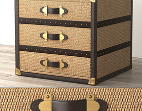 MAYFAIR RATTAN 3-DRAWER CUBE 3D