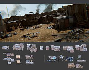 Informal Settlement Slums Refugee Camp assets and 3D model