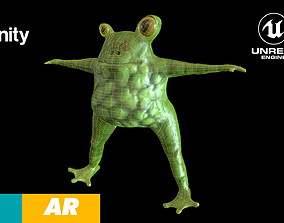 Frog Freaky Low-poly 3D model