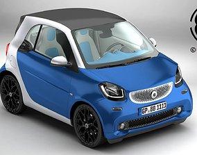 Smart ForTwo 2015 3D model