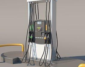 pump 3D model Fuel Dispenser