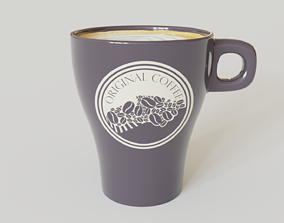 tea 3D model Coffee Mug