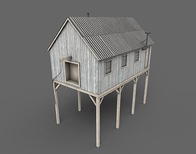 3D asset game-ready Suspended Barn