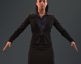 rigged game-ready Rigged 3D woman in business attire