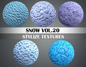 Stylized Snow Vol 20 - Hand Painted Texture Pack 3D asset