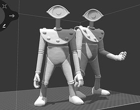 3D printable model 2 x ONE EYED robots from THE HERCULOIDS