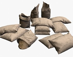 Military Sand Bags Assets 02 realtime