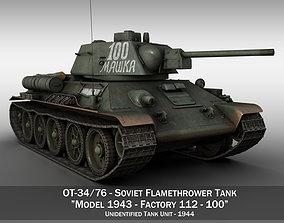 OT-34-76 - Soviet Flamethrower Tank - 100 3D