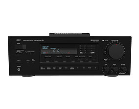 Stereo Receiver With Remote - Cinema 4D Format 3D model