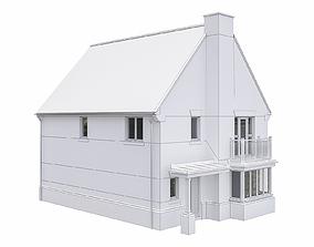 Neighborhood Houses P26 3D model game-ready