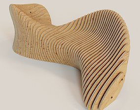 3D model Parametric bench and drawings