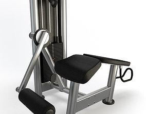 Gym Horizontal Legs Press 3D