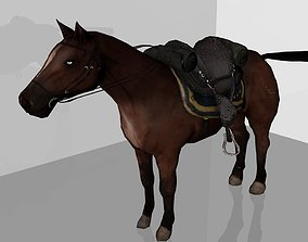 cavalry Horse 3D model low-poly