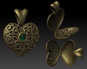 heart pendant pendants and 3D print model
