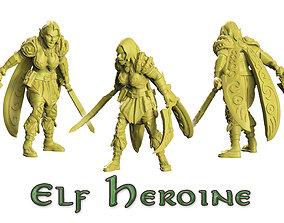 3D print model Heroine of wood elf