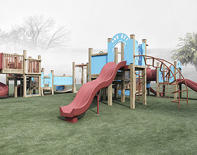 Playground 3D model animated