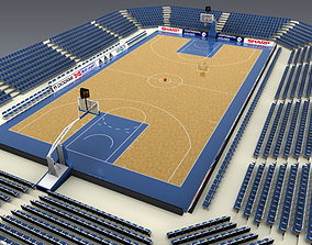Basketballcourt 3D