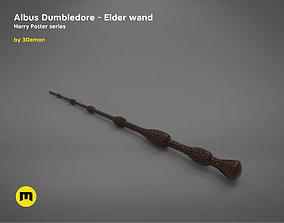 Albus Dumbledore Elder wand - Harry 3D print model 1