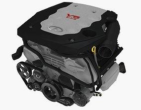 Infiniti G35 VQ35DE engine 3D asset