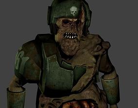 3D model Imperial Guardsman Zombie