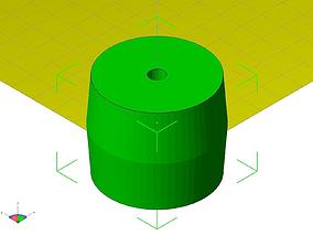 3D print model bed frame roller