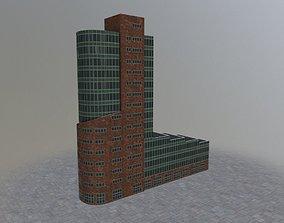 3D asset Hamburg Channel Tower
