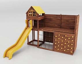 3D model PBR Childrens Slides Wide