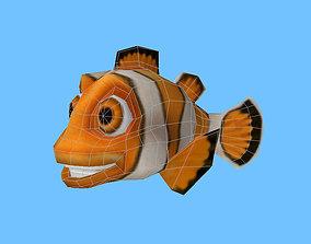 Cartooon of clown fish 3D asset