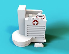 Hospital Building 3D model game-ready