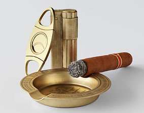 Cigar Starter Kit Brass 3D PBR