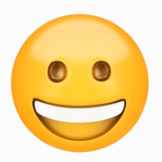 Emoji Grinning Face 3D model