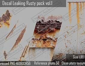 Decal Leaking Rusty texture pack 3D