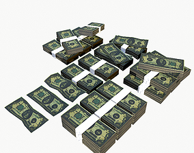 3D asset Stylised Money Pack