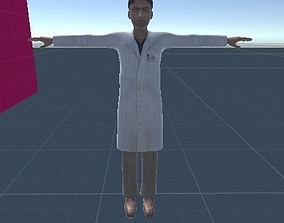 3D model High Quality Doctor or Scientist Man