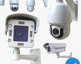 CCTV Security Camera Pack 3D PBR