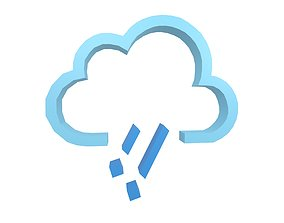 3D asset Weather Symbol v13 003