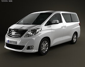 3D model Toyota Alphard 2012