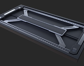 Sci-fi Floor Wall 44 industrial panel 3D blender