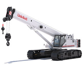 Link Belt TCC-750 Telescopic Crawler Crane 3D