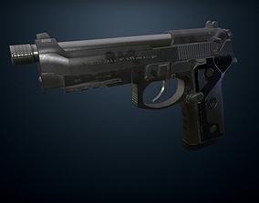 Beretta M9A3 pistol 3D model