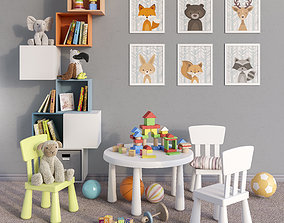 Toys and furniture set 4 3D model
