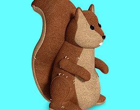 3D Plush Toy Squirrel Prop