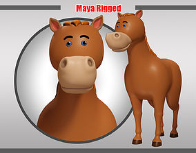 3D model game-ready Horse Rigged