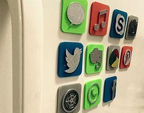 3D IOS icon fridge magnet SKYPE
