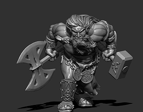 3D printable model Giant Dwarf - 39mm height -