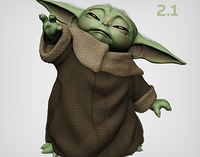 3D printable model BABY YODA USING THE FORCE V2