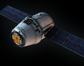 SpaceX Dragon 3D model