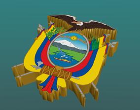 3D Coat of Arms of Ecuador in Blender Blender Cycles 2