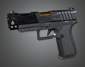FPS Modern Handgun - Big Warden 3D model